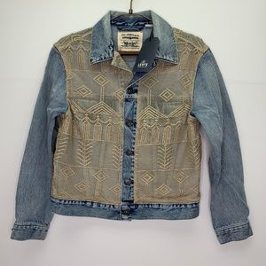 Levis Made & Crafted Denim Lace Jacket NWT Embroid